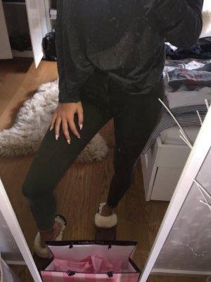 Khaki farbende skinny jeans