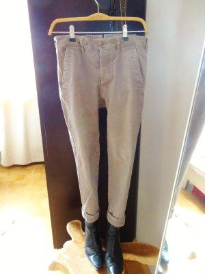 Khaki farbene Cargo Hose / Boyfriendstyle Gr. 26 von Mono Chrom