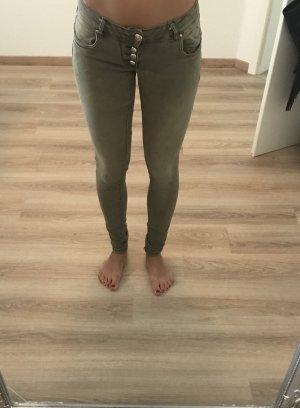 Drainpipe Trousers green grey