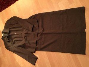 Khaki farbener Anzug / Kostüm mit langem Rock und Blazer