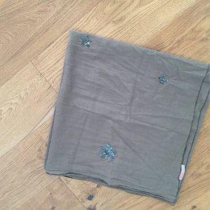 Khaki-farbener Schal mit Sternen aus Pailetten von Saint Tropez