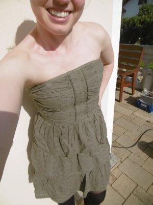Khaki farbenes Bandeau Kleid im Army Style