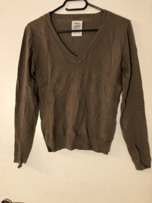 Khaki farbenes Basic Shirt von Only