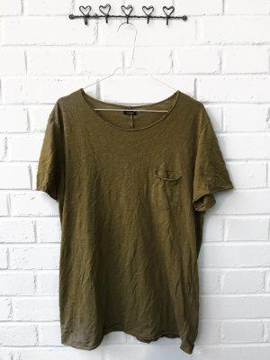 Khaki Farbenes Shirt