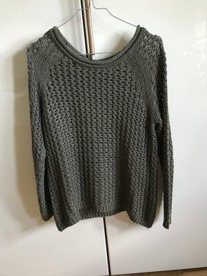 H&M Gehaakte trui olijfgroen
