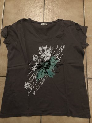 khaki / graues Shirt von Boysens - zweimal getragen - mit Print - Gr. 44/46