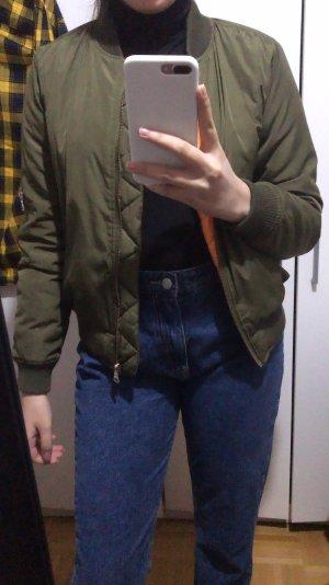 Khaki grüne Bomber Jacke regen mit Reißverschluss