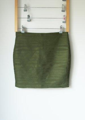 Khaki Grüner Minirock von Amisu 38 aus Strukturstoff Rock Basic