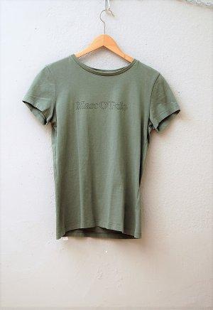 Khaki-Grünes Basic T-Shirt