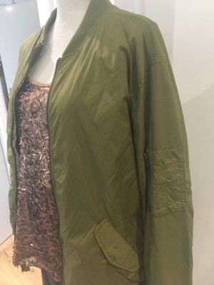 Khaki (grüngraue) Bomberjacke von H&M