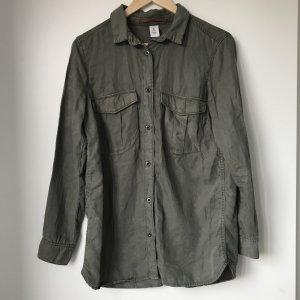 khaki Hemd-Bluse