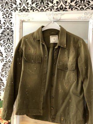 Khaki Hemd Zara mit Farbspritzern