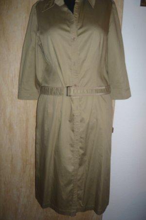 Khaki Hemdkleid in Größe 40
