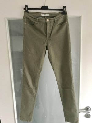 Khaki high waist jeans skinny