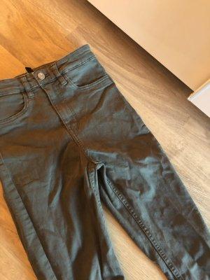 H&M Hoge taille jeans khaki-groen-grijs