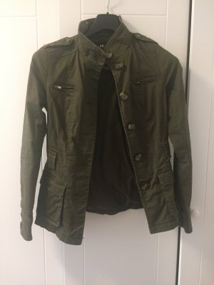 H&M Veste militaire kaki-gris vert