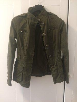 H&M Militair jack khaki-groen-grijs