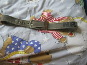 Fabric Belt green grey