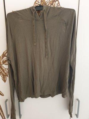 FB Sister Camicia con cappuccio cachi Tessuto misto