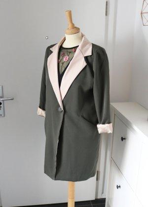 Khaki Longblazer mit Rosa Revers Neu Jubylee M/L