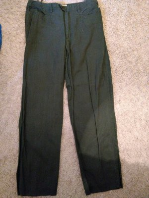 Esprit Khakis dark green-khaki linen