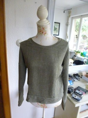 Bershka Kraagloze sweater khaki