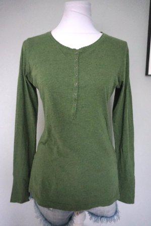 H&M Jersey de cuello redondo verde oliva Algodón