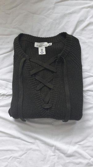 Khaki Pullover zum schnüren H&M