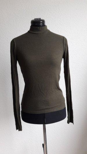 Zara Chemise côtelée kaki tissu mixte