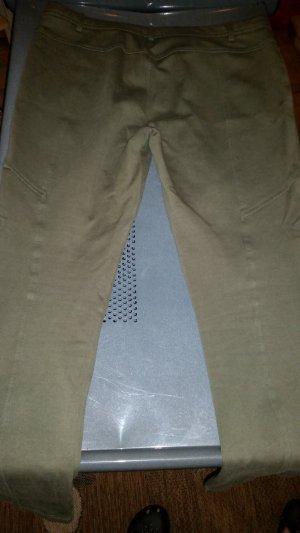 Stretch broek oker-grijs-bruin Gemengd weefsel