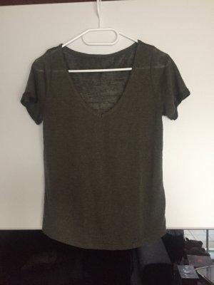 Khaki T-Shirt H&M Neu