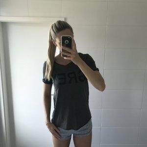khaki T-Shirt mit Print