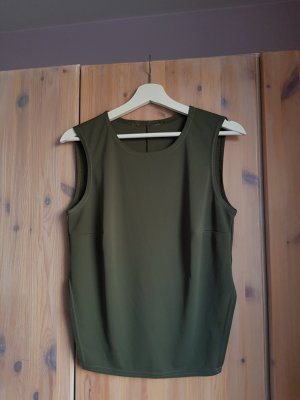 Promod Off the shoulder top groen-grijs-khaki