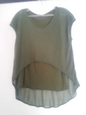 Camisa tipo túnica caqui-verde oliva