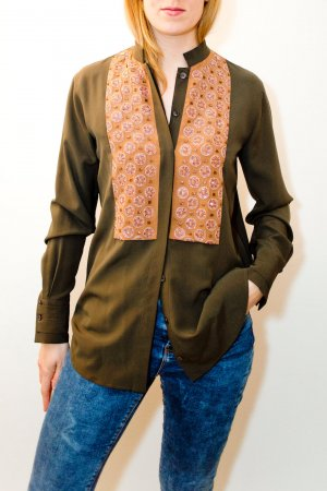 Khakifarbene Bluse von Etro (Winterkollektion 2016)
