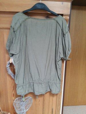 khakifarbene Bluse von ZARA L