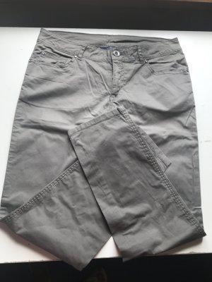 Kiabi Woman Pantalón de color caqui marrón grisáceo-gris verdoso