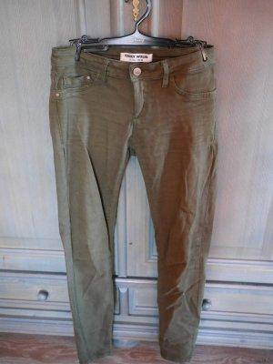 Khakifarbene Jeans