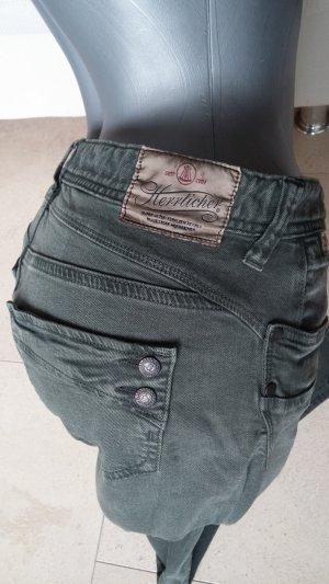 Khakifarbene Jeans der Marke Herrlicher, Gr. 29