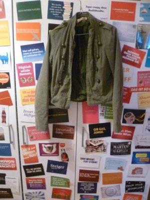 Khakifarbene Kurzjacke, Übergang, Frühling, Blogger, Hipster, Vintage, Used