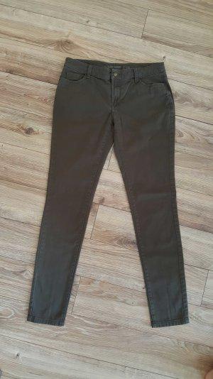 khakifarbene Skinny-Hose