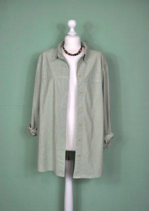 Khakifarbene Vintage Bluse / Jacke / Jäckchen