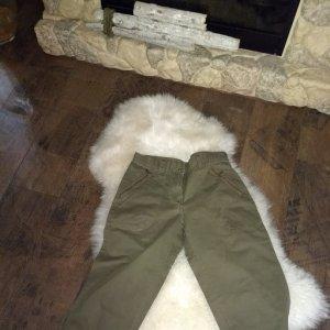 7/8 Length Trousers khaki cotton