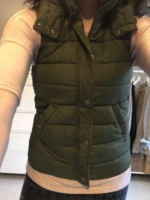 H&M L.O.G.G. Capuchon vest khaki-bruin