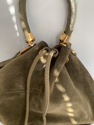 Khakifarbene Wildleder Tasche