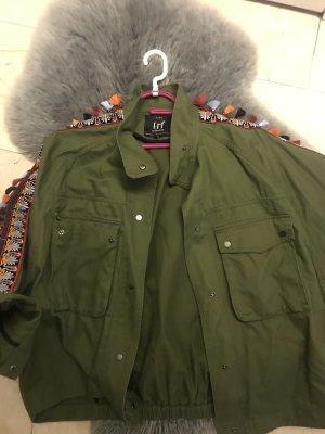 Zara Trafaluc Oversized Jacket multicolored