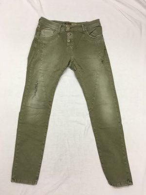 Khakifarbenen Five Pocket Jeans von Please