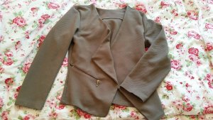 Jersey blazer khaki-olijfgroen
