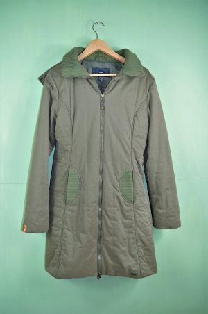 Khakifarbener Mantel von TCM mit Orangefarbenen Details