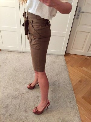H&M Falda de tubo caqui